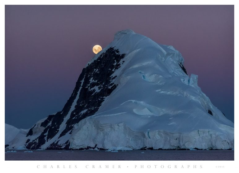 Moonrise, Gerlache Strait, Antarctic Peninsula
