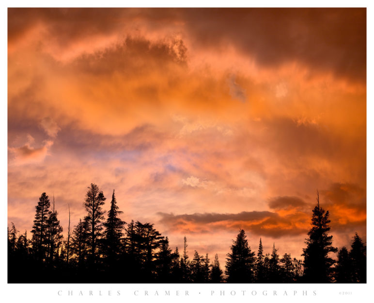 Sunset Clouds, Lower McCabe Lake, Yosemite