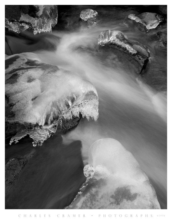 Ice, Merced River, Yosemite
