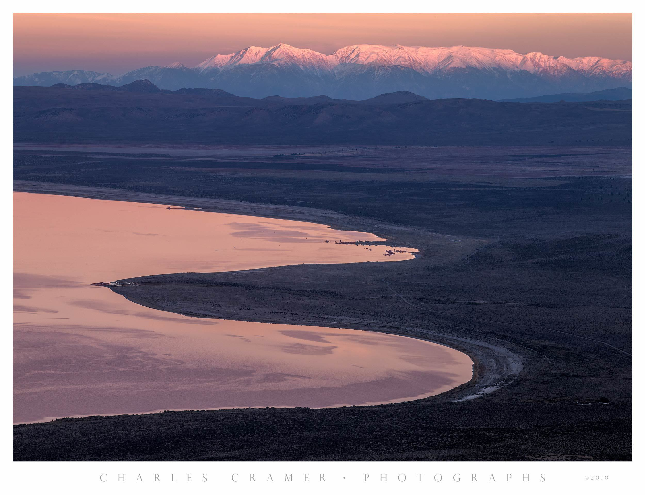 Sunset, Mono Lake and White Mountains