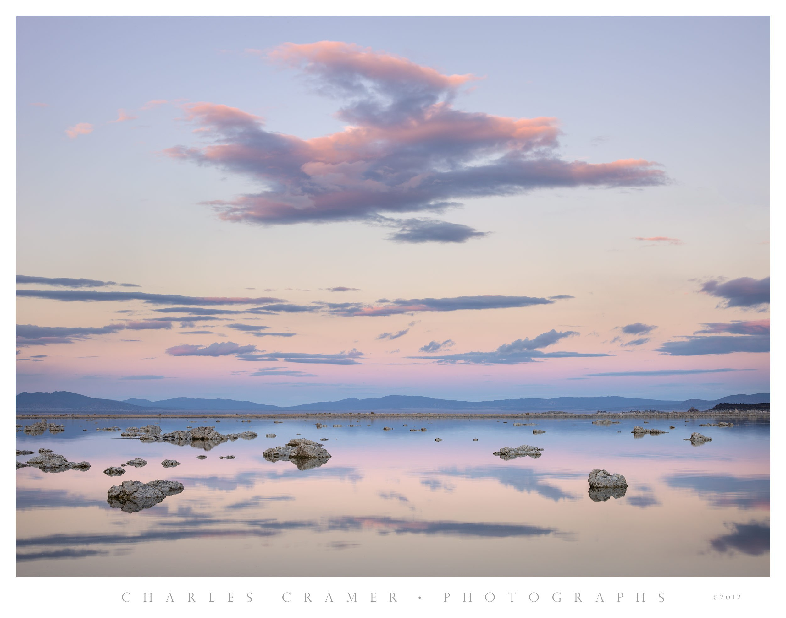 Sunset Light and Clouds, Mono Lake, California