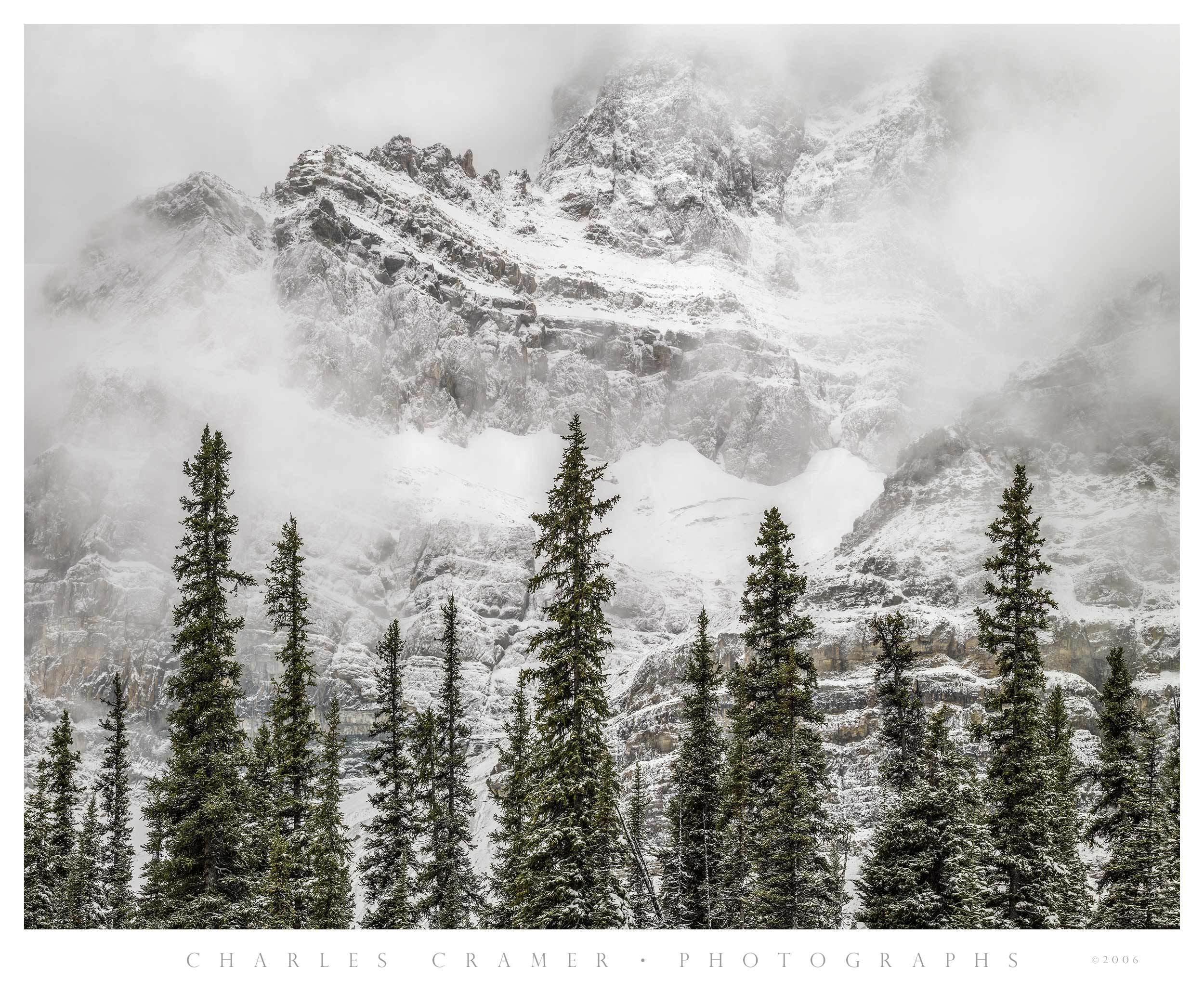 Misty Peaks, Canadian Rockies, Snowstorm