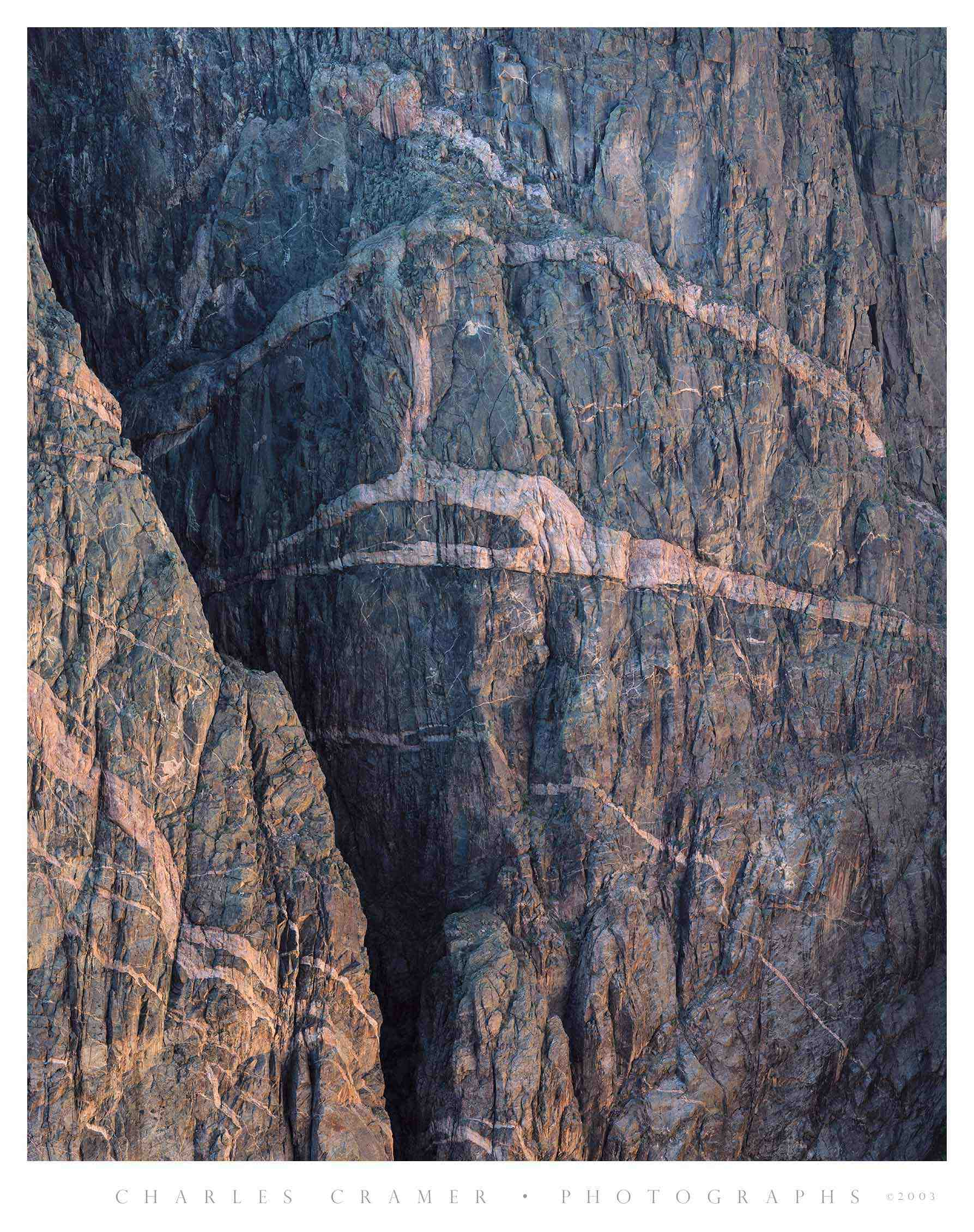 Evening, Wall Detail, Black Canyon of the Gunnison
