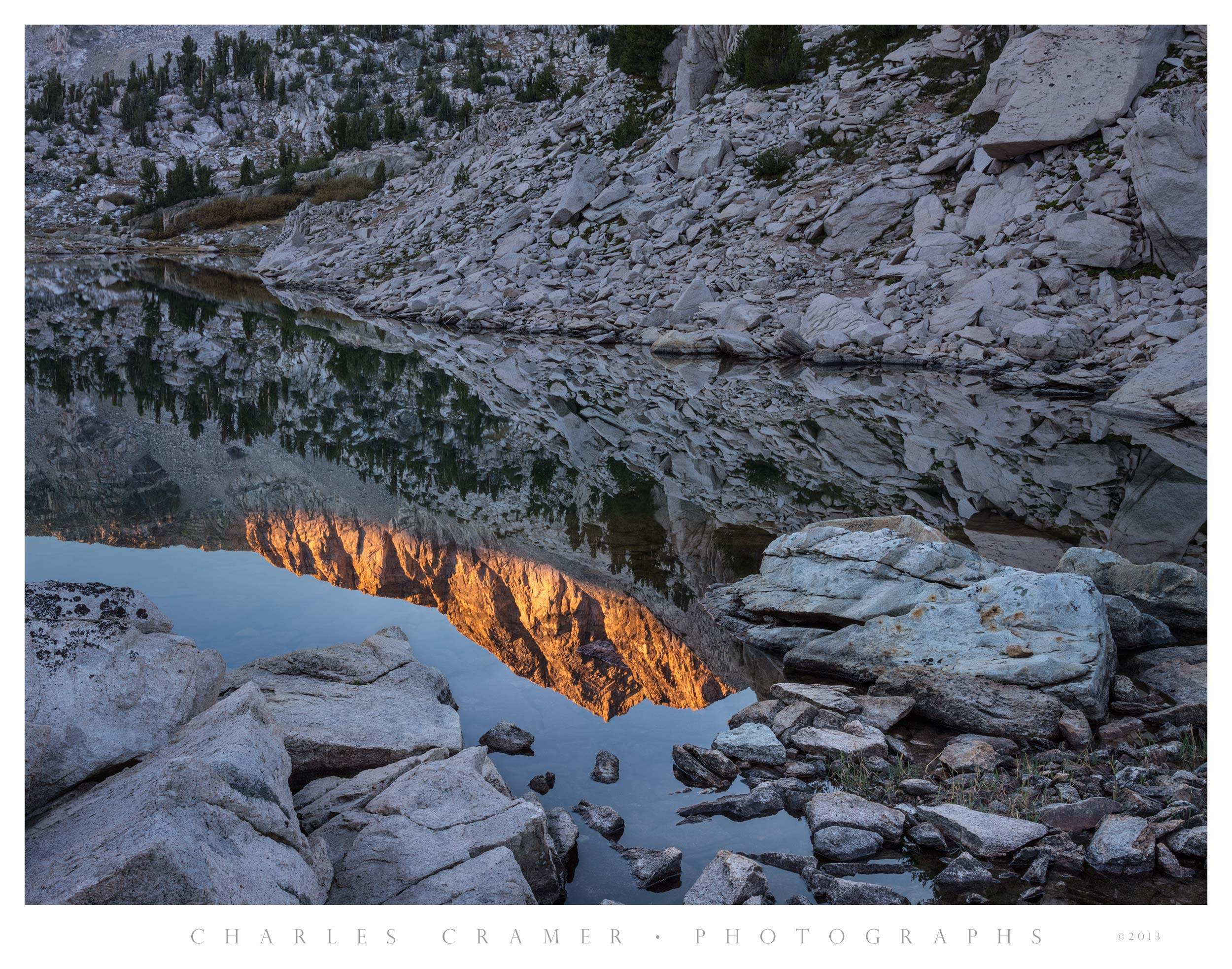 Pond at Sunrise, Sixty Lakes Basin, Kings Canyon