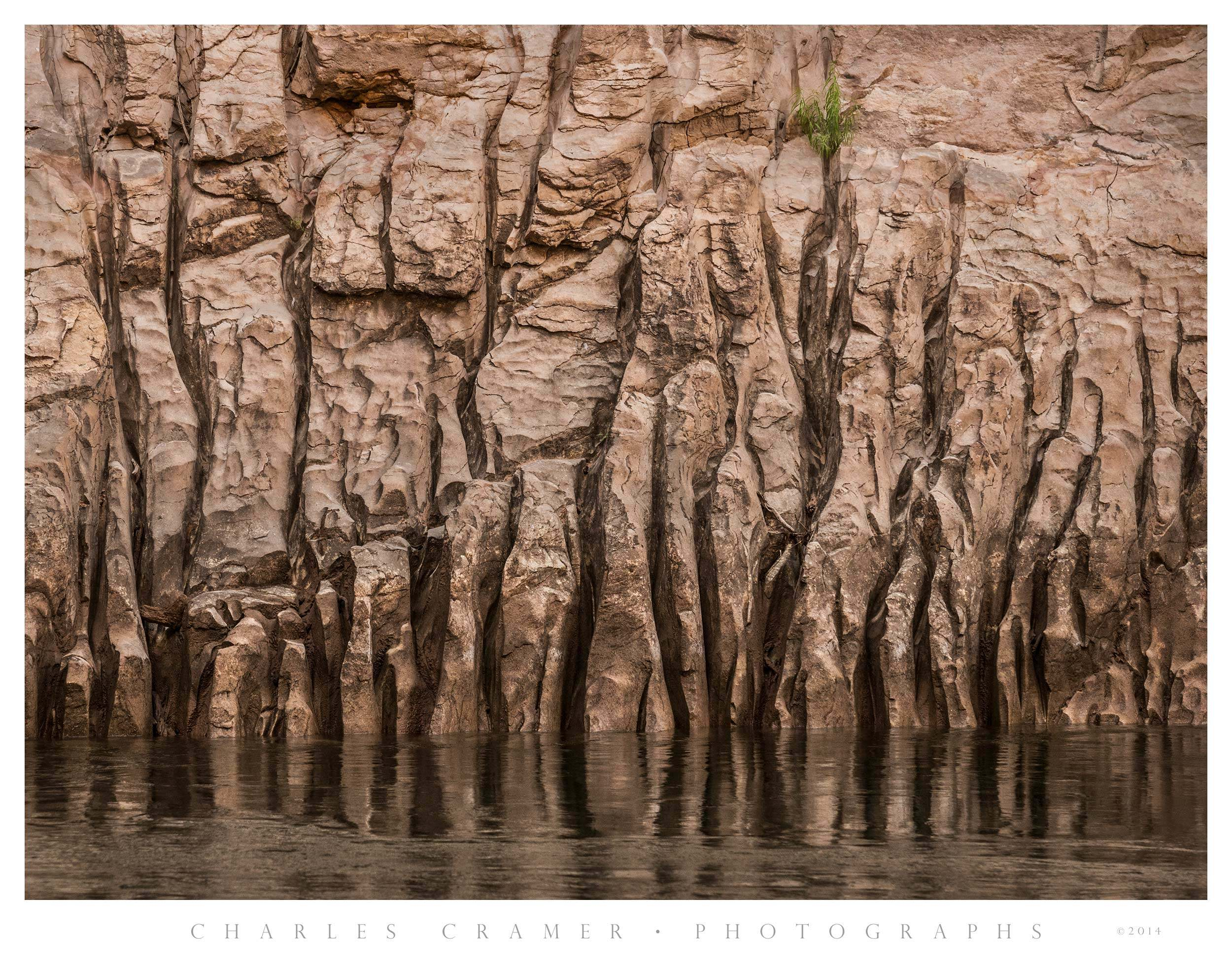 Striations in Canyon Wall, Colorado River, Grand Canyon