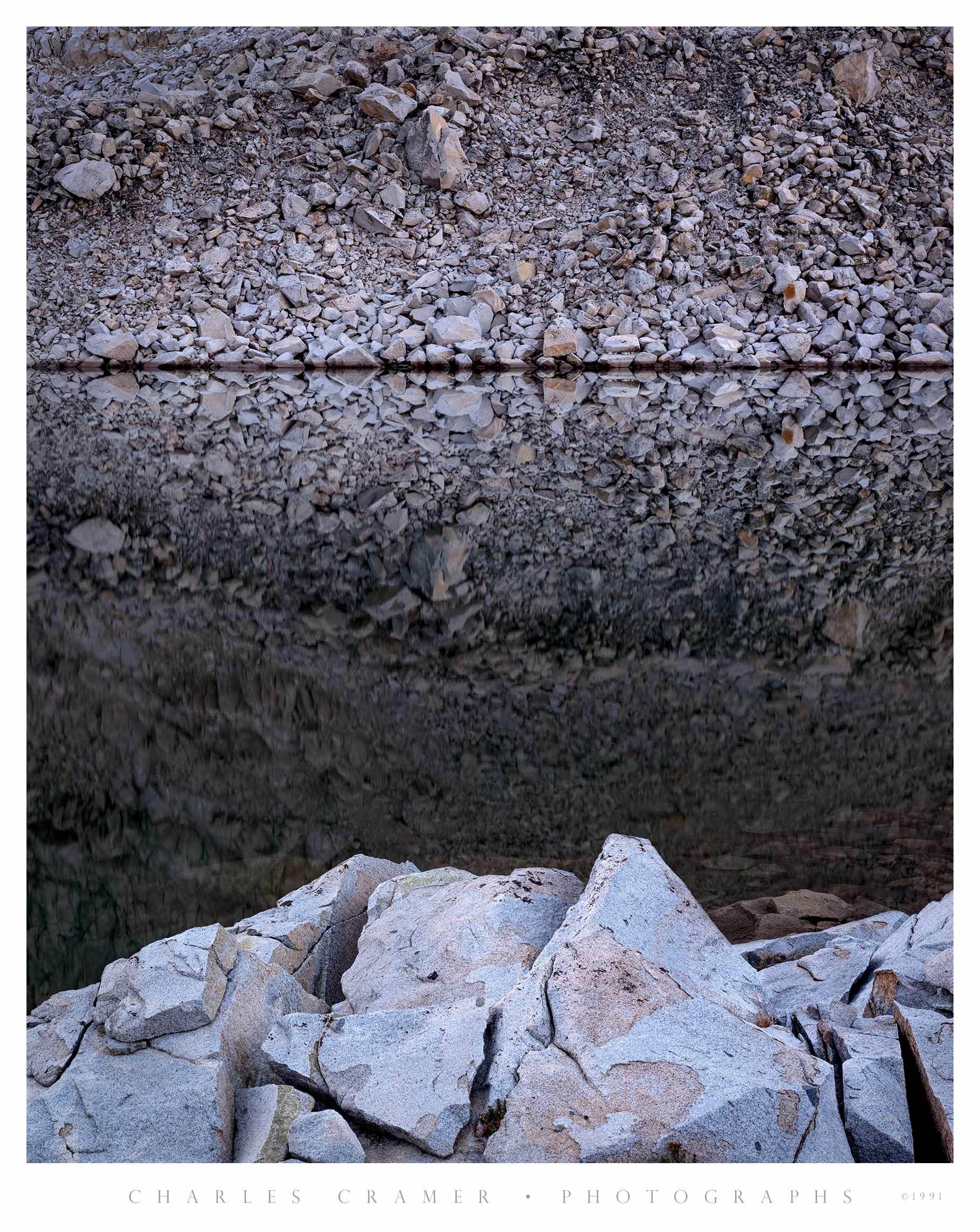 Talus, Lake below Mt. Lyell, Yosemite