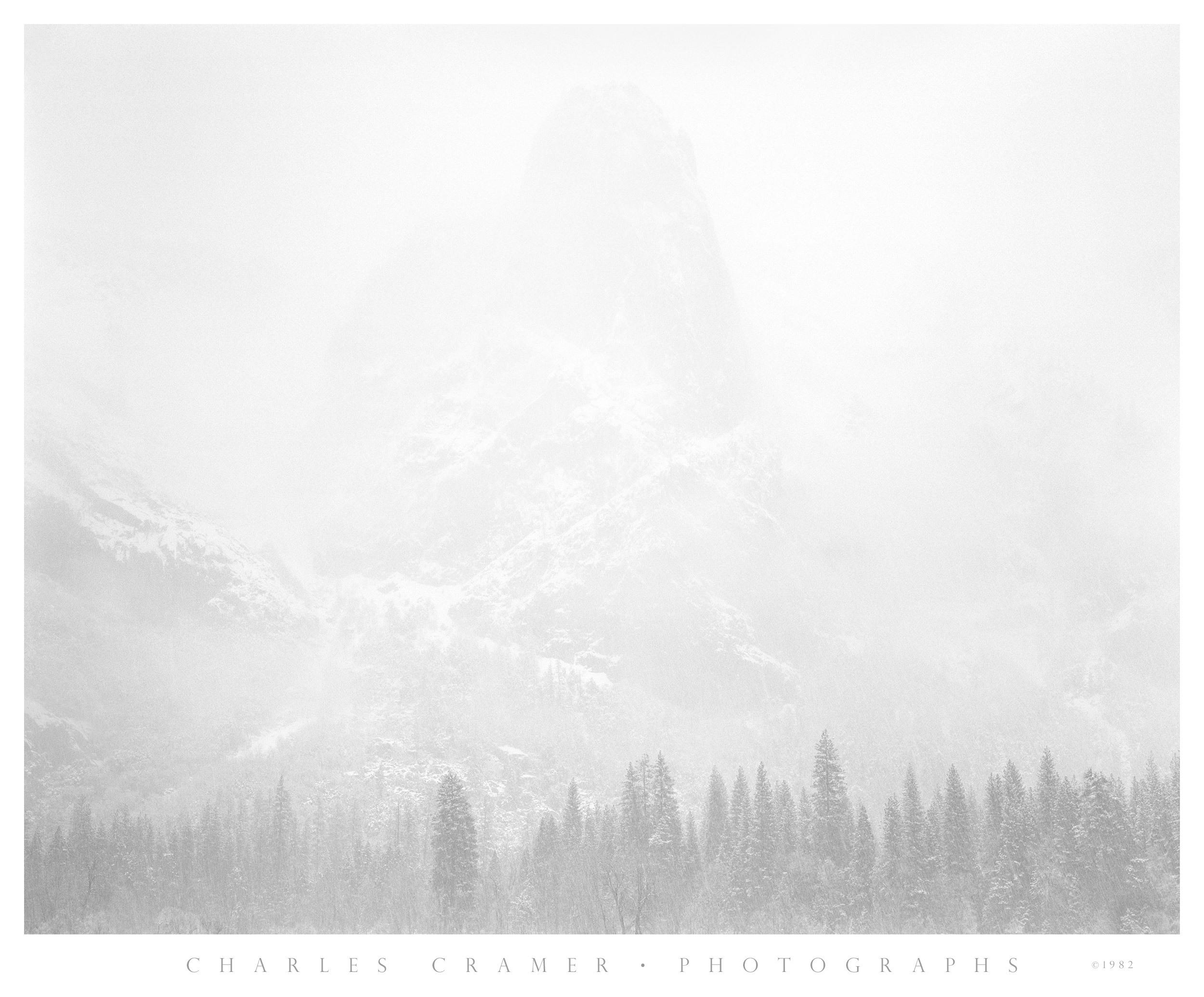 Sentinel Rock, Snowstorm, Yosemite