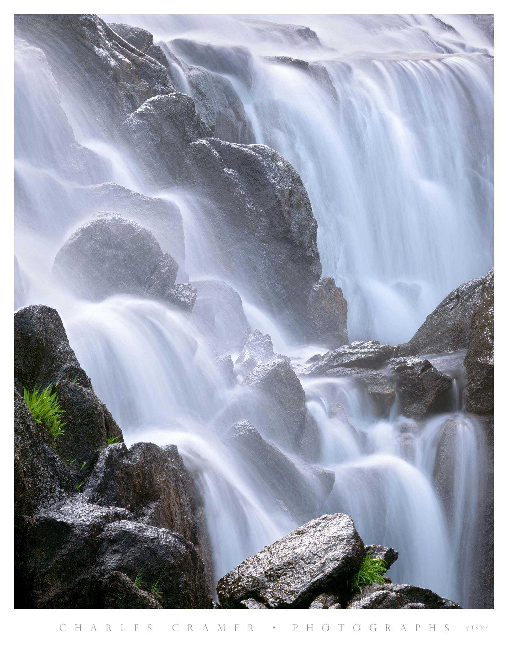 Cascade Detail, Tuolumne River, Below Waterwheel Falls, Yosemite