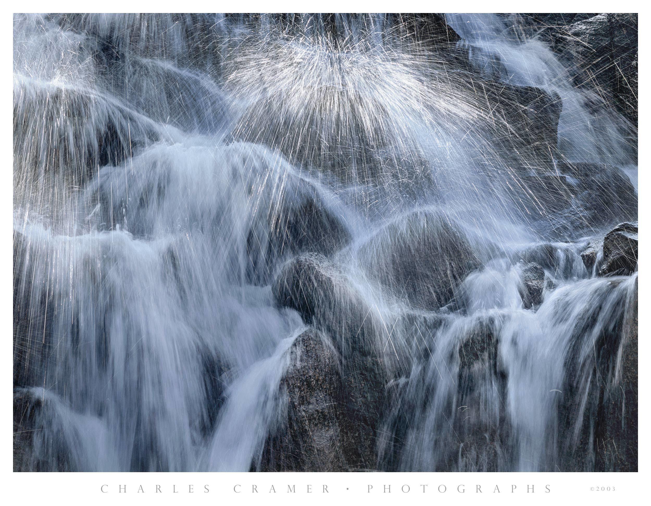 Cascade Detail, below Waterwheel Falls, Yosemite