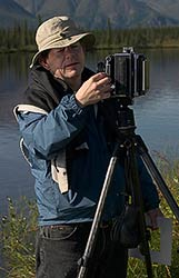 Charles Cramer photographing in Alaska
